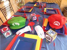 décoration de table originale jeux videos années 80