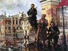 primeros dias de la revolución de octubre, pintado por Georgy Konstantinovich Savitsky (1887–1949)   © Photos.com/Jupiterimages Enciclopedia Britannica