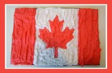 Puffy Paint Canada Day Canadian Flag Craft