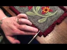 Two neat finishing techniques for punch needle                                                                                                                                                                                 More