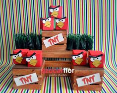 Angry Birds party favors #partyfavors #angrybirds