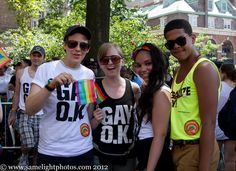 NYC Pride. American Apparel 'Gay O.K.' line
