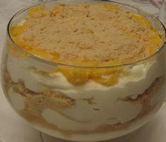 La crème du ciel est un dessert à base de crème, oeufs, biscuits marie, sucre et lait, très apprécié par les Portugaises.