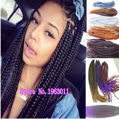3X box braid crochet twist hair extension