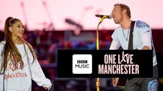 Chris Martin and Ariana Grande - Don't Look Back In Anger (One Love Manc...