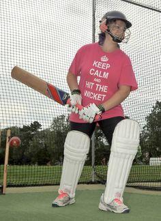 Cricket academy for Wisbech Town CCs Junior Community Cricket Week. Kayleigh Hellard
