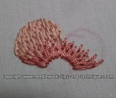 Thread painting (long and short stitch) : lovely effect