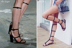 Zapatos de gladiador inspirados por Alexander Wang