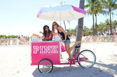 maybe i will quit my job and get me and paige each a cart! Ice Cream Stand, Ice Cream Cart, Coffee Ice Cream, Coffee Carts, Bike Coffee, Summer Jobs, Candy Cart, Food Truck, Pink Summer