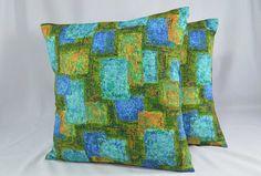 Retro Pillow Cover Cushion Cover Vintage Pillow by #CedarDogDesigns www.cedardogdesigns.etsy.com