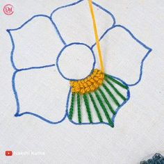 Hand Embroidery Flower Designs, Floral Embroidery Patterns, Hand Embroidery Videos, Embroidery Stitches Tutorial, Creative Embroidery, Simple Embroidery, Embroidery Kits, Sewing Crafts, Hand Embroidery Stitches