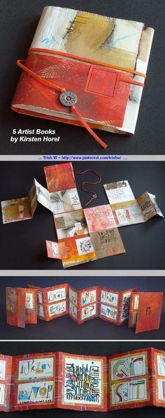 Inspiration :: 5 Artist Books, by Kirsten Horel. Interesting page layouts #art_journal