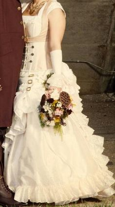 Layer wedding gown #Steampunk Wedding ... Wedding ideas for brides & bridesmaids, grooms & groomsmen, parents & planners ... https://itunes.apple.com/us/app/the-gold-wedding-planner/id498112599?ls=1=8 … plus how to organise an entire wedding, without overspending ♥ The Gold Wedding Planner iPhone App ♥