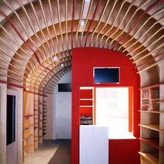 Restructuration de l'Office du Tourisme de St Guilhem le Désert / NBJ architectes. photograph by Paul Kozlowski / ©photoarchitecture. via notcot & archidesignclub #architecture #interiors