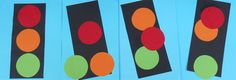 Stoplichten plakken, geschikt voor dreumesen en peuters