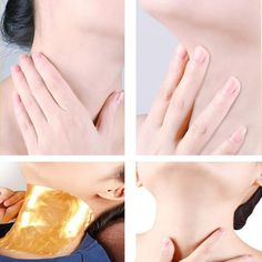 Gold Collagen Neck Mask Anti-Aging Anti-wrinkle Whitening Moisturizing Spa What do the masks do? Lifts and firms - Anti-inflammatory and soothing - Powerful Ingrown Leg Hair, Ingrown Hair Remedies, Skin Care Remedies, Prevent Wrinkles, Skin Brightening, Skin Cream, Anti Wrinkle, Skin Treatments, Healthy Skin