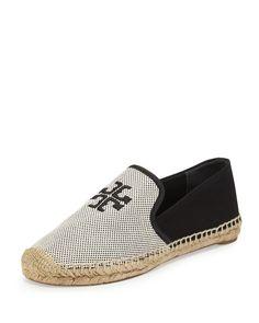 9f273e8928f Tory Burch Vargas Canvas  amp  Leather Espadrille Shoes Jordan Shoes For  Women