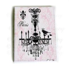I want to do a shabby chic Paris theme for E's big girl room.  This would be perfect!