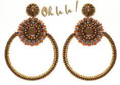 Swarovski Hoop Earrings Beaded by Esther Marker by OhlalaJewelry, $120.00