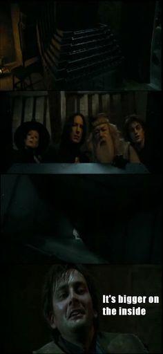 Doctor Who + Harry Potter humor. Winning.