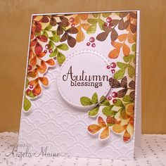 CC548 Autumn Blessings by Arizona Maine - Cards and Paper Crafts at Splitcoaststampers