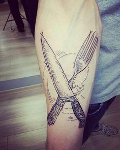 #tattoo #kitchen #knife #fork