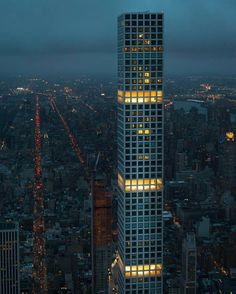20 Tallest Buildings in the United States 2019 – The Tower Info Wilshire Grand Tower, Us Bank Tower, 432 Park Avenue, New York Attractions, World Trade Center, Birds Eye View, City Buildings, Wonderful Places, Wonders Of The World