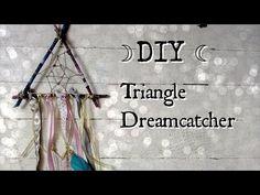 DIY⎟☽ Triangle Dreamcatcher ☾ - YouTube