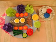 Felt Food Felt Fish Felt Macaroons Felt Vegetables by decocarin
