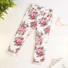 Encontre mais Calças Informações sobre Nova chegada do bebê meninas calças moda calças Floral primavera…