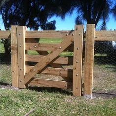 At Blackwood Country Gates, 5251 we use quality material and craftsmanship to create a range of farm, garden and wooden gates to last for years. Farm Fence, Fence Gate, Front Yard Fence, Front Gates, Fencing, Small Yard Landscaping, Driveway Landscaping, Wooden Farm Gates, Timber Gates