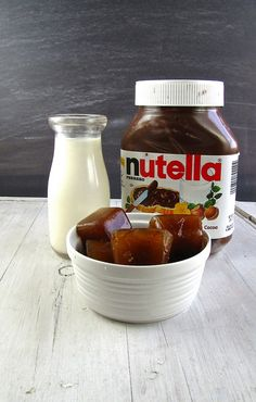 Nutella Iced Coffee drink. Just combine ingredients, blend, and serve!