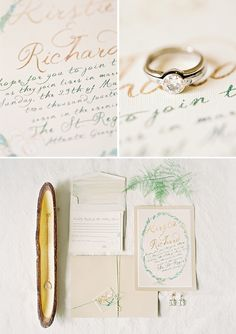 Elegant Wedding Inspiration by Odalys Mendez, Handpainted stationery by Kristy Rice, Momental Designs