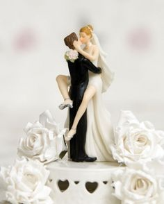 """Funny Sexy"" Wedding Bride and Groom Cake Topper Figurine --- Haha!!"