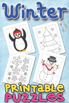 Free Printable Winter Puzzles for Kids