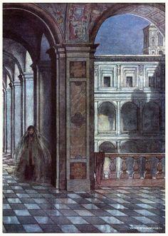William Heath Robinson - But, like a cloistress, she will veiled walk. - Twelfth Night - 1908.
