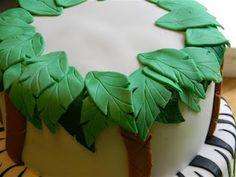 The Cake Class: Palm Trees Tutorial - Zebra Monkey Cake - Day 2 Fondant Figures, Fondant Cakes, Cake Decorating Techniques, Cake Decorating Tutorials, Cake Day, Eat Cake, Jungle Cake, Jungle Party, Safari Party