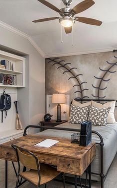 Teenage Male Bedroom Decorating Ideas Teenage Boy Bedroom: 33 Best Teenage Boy Room Decor Ideas And Designs For 2019 Boy Bedroom Design, Room, Baseball Themed Bedroom, Boys Bedroom Themes, Bedroom Themes, Awesome Bedrooms, Teenager Bedroom Boy, Home Decor, Kid Room Decor