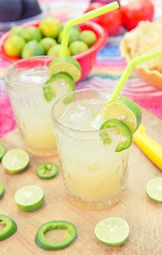 For your guests who have a taste for something spicy, try a Limón Lime Jalapeño drink! Make a simple syrup including sliced jalapeños, sugar, and water. Once cooled, remove jalapeños, add a dash to a glass of ice, and fill with 1-2 shots of Bacardí Limón, lime juice, lemonade, and ice. So good! (sp)