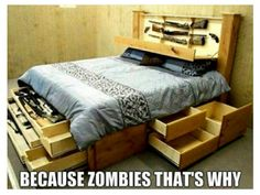 My kinda bed! The Walking Dead #twd #thewalkingdead