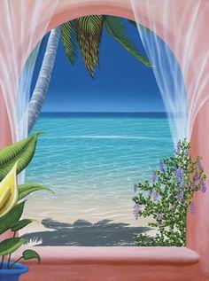 Caribbean Breeze Mural - Dan Mackin| Murals Your Way
