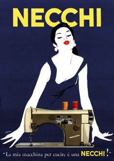 Necchi Mirella was so inspiring that it became the only sewing machine ever to be on permanent display at the Metropolitan Museum of Modern Art in New York. 1957