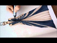 Fashion Illustration -Speed Drawing - YouTube