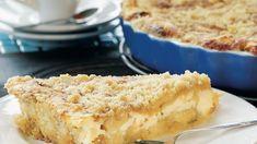 Omena-ansa on mehevä, rahkatäytteinen ja muruseospintainen omenapiirakka. Sweet Pie, Time To Eat, Sweet And Salty, Cornbread, Macaroni And Cheese, Cake Recipes, Food Porn, Food And Drink, Cooking Recipes