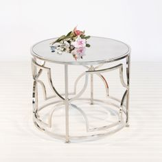 """$499 each.  20"""" wide. Gorgeous Silver Tess Cocktail Table. Free Shipping!"""