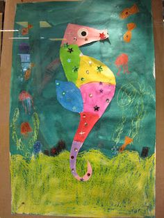 Eric Carle, Arts And Crafts, Diy Crafts, Teaching Art, Art Lessons, Art Projects, Dinosaur Stuffed Animal, Water, Outdoor Decor