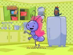 Mariposita video de canción infantil para bebe y niños Gallina Pintadita 2 OFICIAL - YouTube
