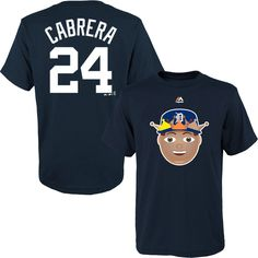Miguel Cabrera Detroit Tigers Majestic Name & Number Emoji T-Shirt - Navy - $19.99