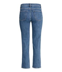 Denim blue. CONSCIOUS. 5-pocket, ankle-length jeans in washed stretch denim made…