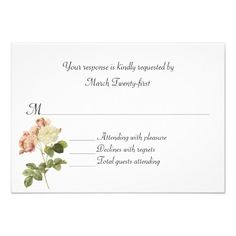 DealsCottage Chic Vintage Roses Wedding RSVP Cardyou will get best price offer lowest prices or diccount coupone